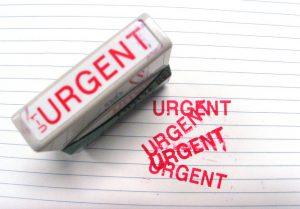 la urgencia de lo importante
